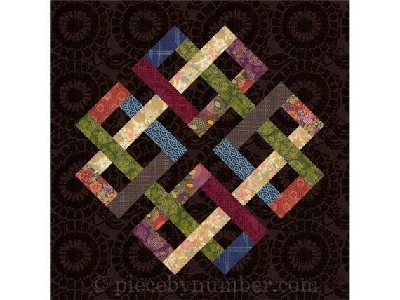zentricity ii paper pieced quilt block pattern celtic knot quilt pattern medallion foundation piecing Venetian Chain Quilt Block