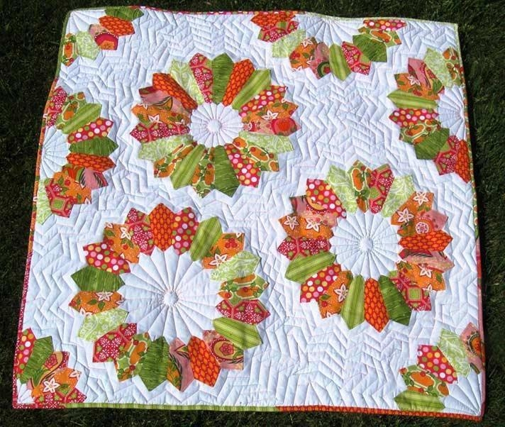 10 modern flower quilt patterns youll love 10 Interesting Flower Patchwork Quilt Patterns