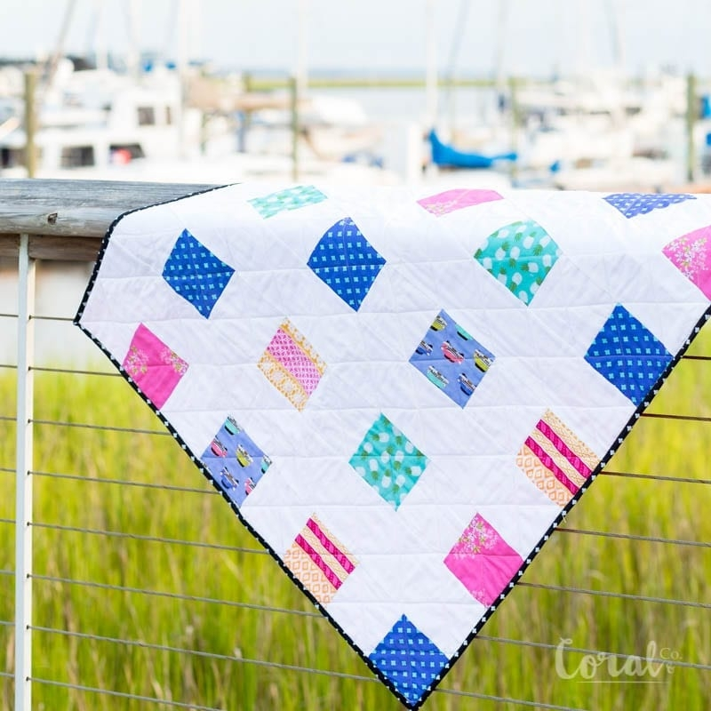 13 free ba quilt patterns to sew coral co Cozy Baby Quilt Patterns Gallery