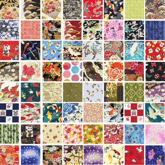 Beautiful 20 fat quarter asian japanese quilt fabric 5 yards 9 Elegant Asian Quilt Fabric Gallery