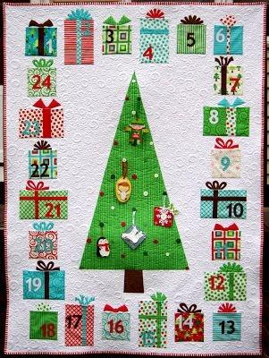 Beautiful advent calendar quilt instructions ahhhquilting 9 Cool Quilted Advent Calendar Pattern Inspirations