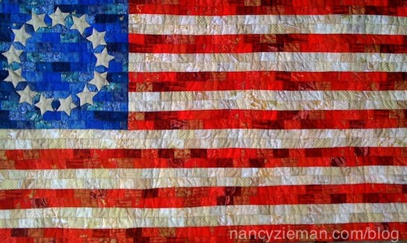 Beautiful american flag free quilt patterndevotequilternancy Modern American Flag Quilt Pattern