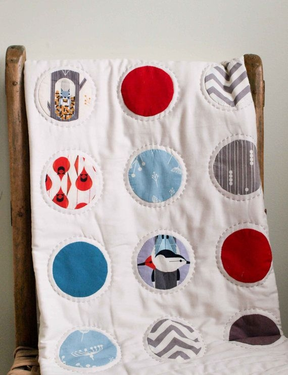 Beautiful ba quilts organic ba quilt charley harper dots made to 11 Beautiful Stylish Charley Harper Quilt Fabric Ideas Gallery