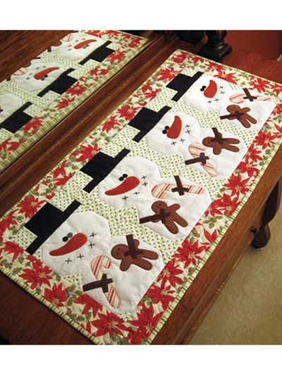 Beautiful be merry table runner pattern 9 Cool Table Runner Quilting Patterns Gallery
