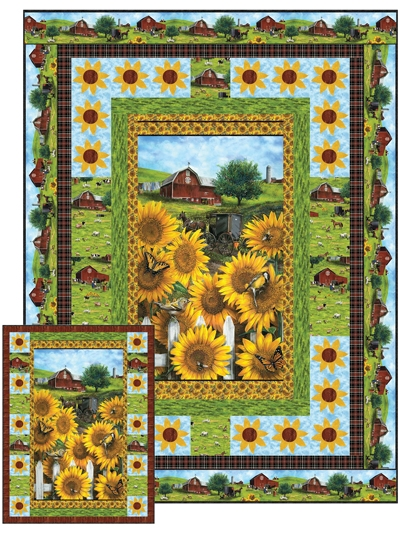 Beautiful country sunflowers quilt pattern 10 Interesting Sunflower Quilt Pattern For Beginners Gallery