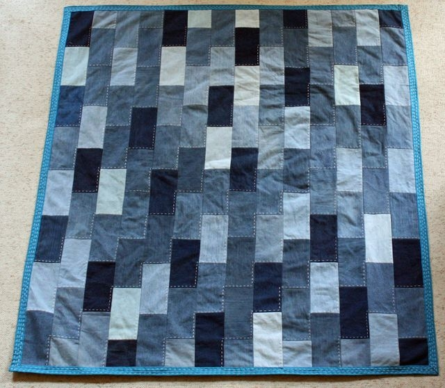 Beautiful denim quilt made from old jeans denim quilt denim quilt Elegant Easy Denim Quilt Patterns