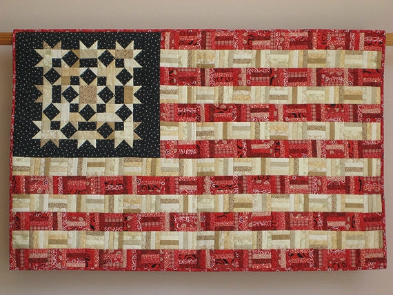 Beautiful display your colors with this scrappy flag quilt quilting 10 New American Flag Quilt Patterns