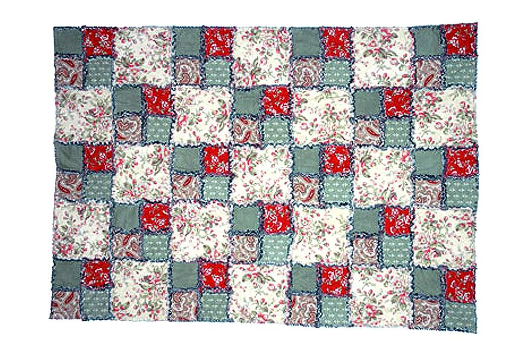 Beautiful easy and free double four patch rag quilt pattern Modern Pictures Of Quilt Patterns