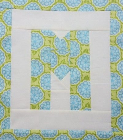 Beautiful easy as abc qal letter m alphabet quilt heart quilt 11 Interesting Alphabet Quilt Block Patterns Gallery