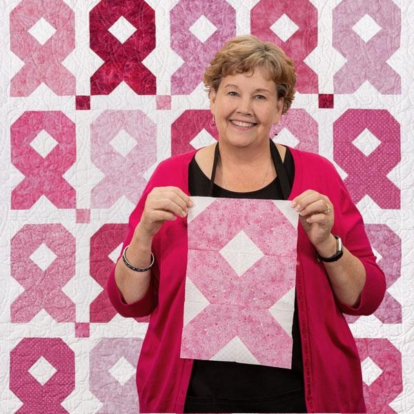 Beautiful easy ribbon quilt missouri star blog 10 Elegant Breast Cancer Ribbon Quilt Pattern Inspirations