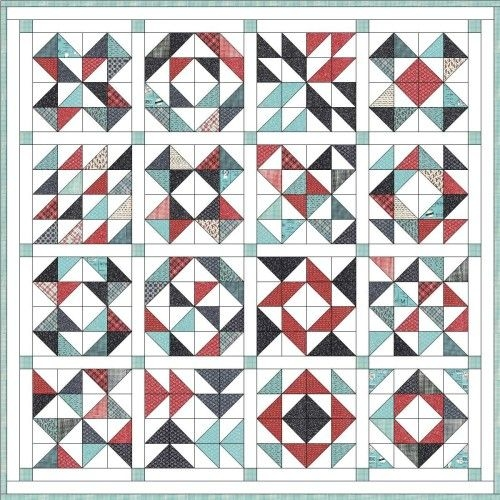 Beautiful feed company quilt triangle quilt pattern half square 9 Stylish Half Square Triangle Quilt Layouts Gallery