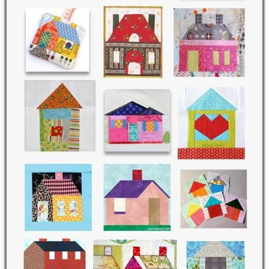 Beautiful free pattern day house quilts quilt block tutorial house 9 Beautiful House Quilt Pattern