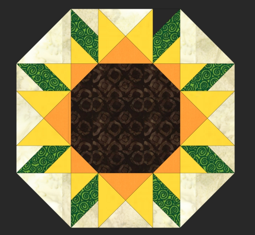 Beautiful free quilt pattern sunflower placemat i sew free 10 Interesting Sunflower Quilt Pattern For Beginners Gallery