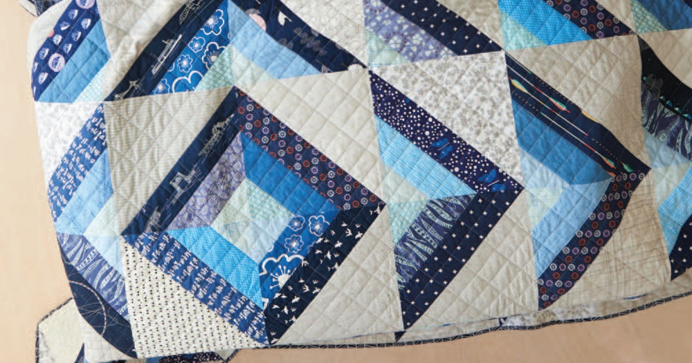 Beautiful half square triangle quilts to try quilting daily Unique Triangle Patchwork Quilt Patterns