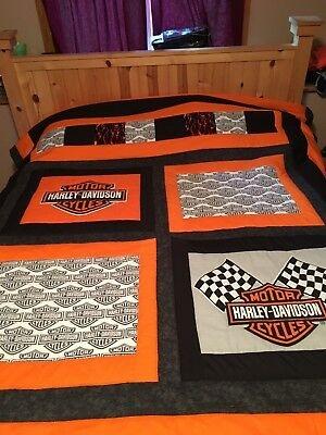 Beautiful harley davidson hand quilted quilt ebay 10 Elegant Harley Davidson Quilt Patterns Inspirations
