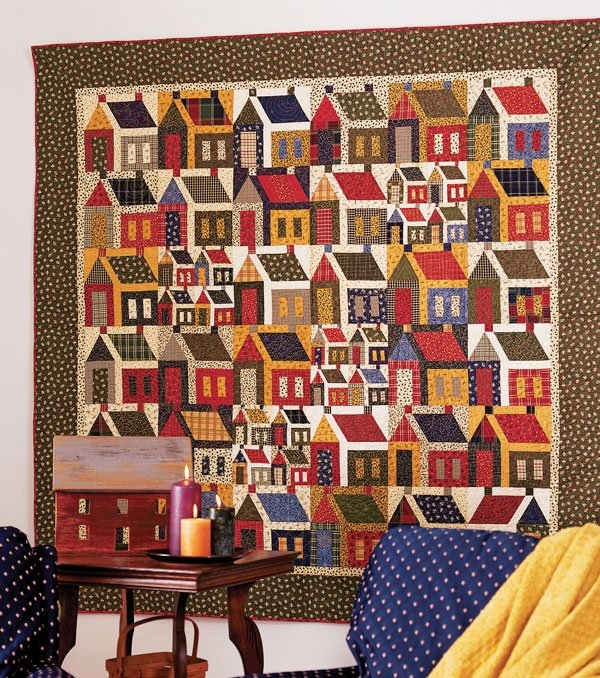Beautiful house block quilt patterns allpeoplequilt 9 Beautiful House Quilt Pattern