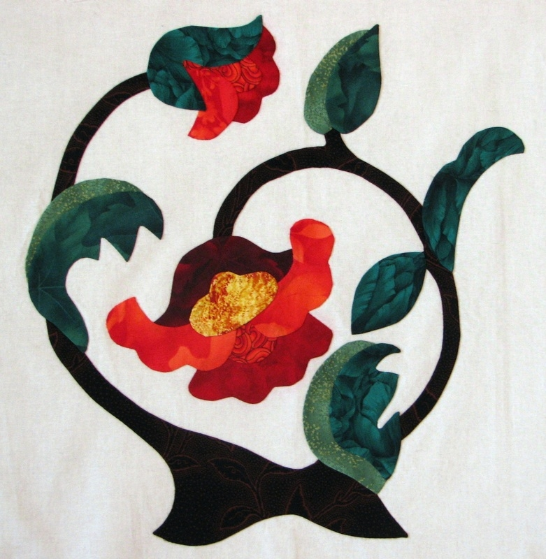 Beautiful jacobean my quilting site Stylish Pat Campbell Applique Quilt Pattern