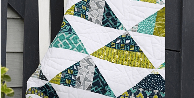Beautiful jelly roll strips add texture to triangles quilting cub Stylish Quilts With Triangles Inspirations