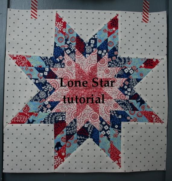 Beautiful lone star block tutorial hopeful homemaker 10 Stylish Lone Star Patchwork Quilt Patterns