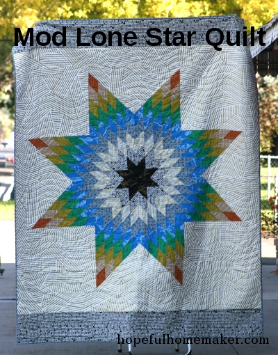 Beautiful mod lone star a lone star quilt pattern hopeful homemaker 10 Stylish Lone Star Patchwork Quilt Patterns