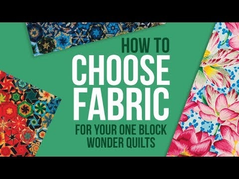 Beautiful one block wonder how to choose fabric and more Interesting One Block Wonder Quilt Pattern