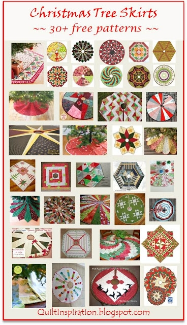Beautiful quilt inspiration free pattern day christmas tree skirts Cozy Quilted Tree Skirt Pattern Inspirations