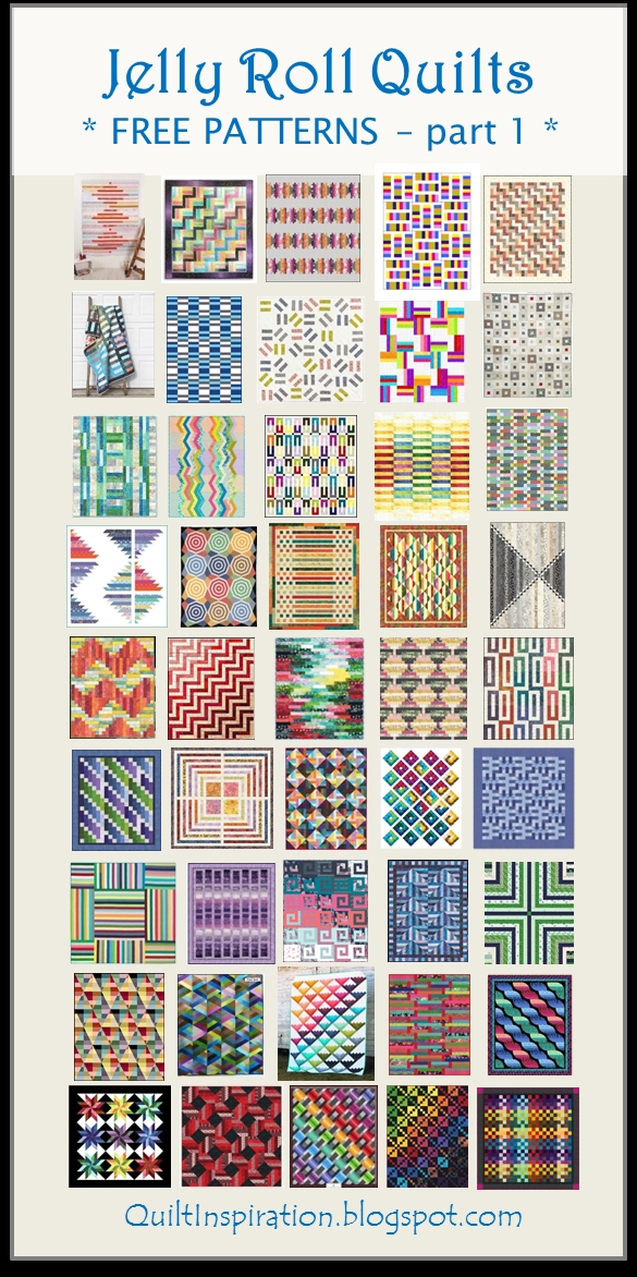 Beautiful quilt inspiration free pattern day jelly roll quilts part 11 Beautiful Quilt Patterns From Jelly Rolls
