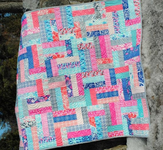 Beautiful quilt pattern easy beginner quick strip and jelly roll friendly scrappy ever after Beautiful Strip Quilt Patterns For Beginners Inspirations