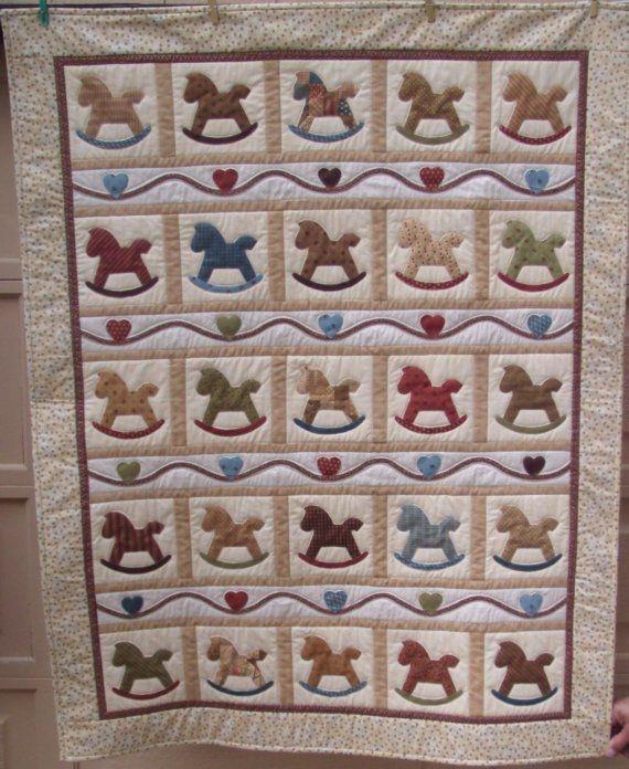 Beautiful rocking horse quilt horse quilt quilt sewing patterns 10 Cool Rocking Horse Quilt Pattern