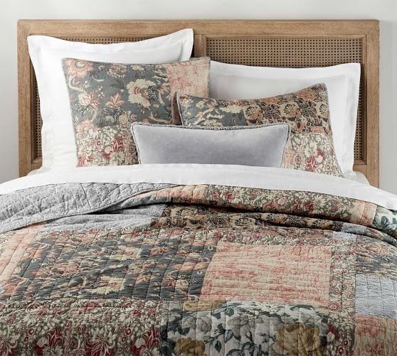 Beautiful rosalyn patchwork cotton quilt shams Modern Pottery Barn Quilts Gallery