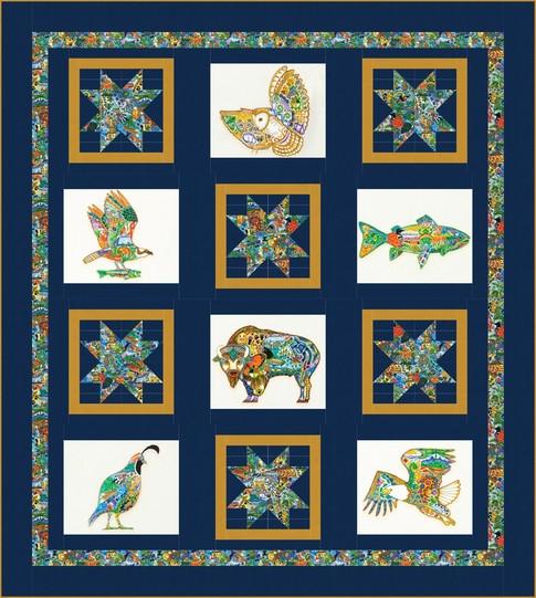 Beautiful spirit stars free pattern robert kaufman fabric company 9 Cool Robert Kaufman Quilt Patterns Inspirations