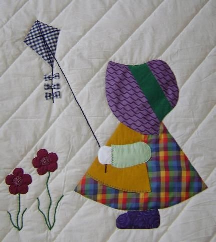 Beautiful sun bonnet sue quilt patterns free sunbonnet sue evalyn Cozy Sunbonnet Sue Quilt Patterns Inspirations