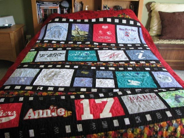 Beautiful t shirt memory quilt four corners designs pieced T Shirt Memory Quilt Pattern Gallery