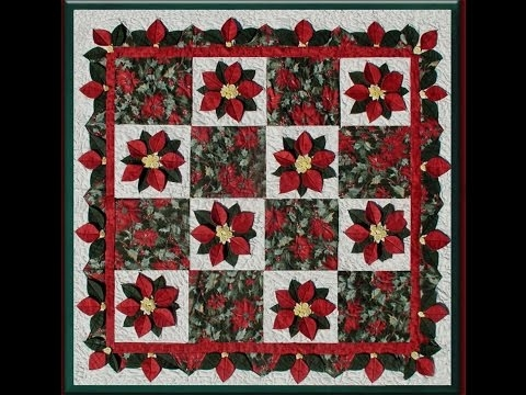 Beautiful the poinsettia quilt youtube 11 Stylish Poinsettia Quilt Pattern Inspirations