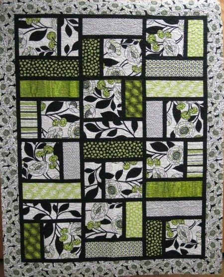 Beautiful this would be so cool to sub a tee shirt in the big square 11 New De Novo Quilt Pattern Inspirations