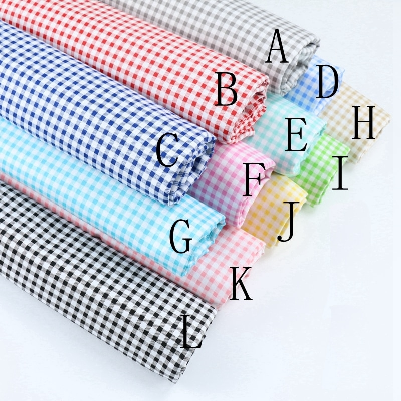 Beautiful us 219 16 offdelicate 05cm gingham checked 100 cotton fabric quilting fabric clothes home textile bedding sewing doll cloth diy a67fabric 10 Stylish Gingham Quilting Fabric Inspirations
