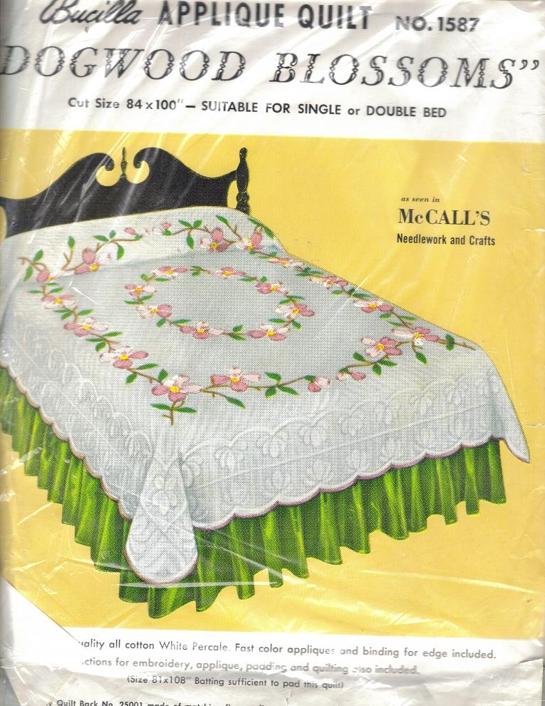 Beautiful vintage applique quilt kits bucilla 3128 dogwood and 11 Interesting Vintage Quilt Kits Gallery