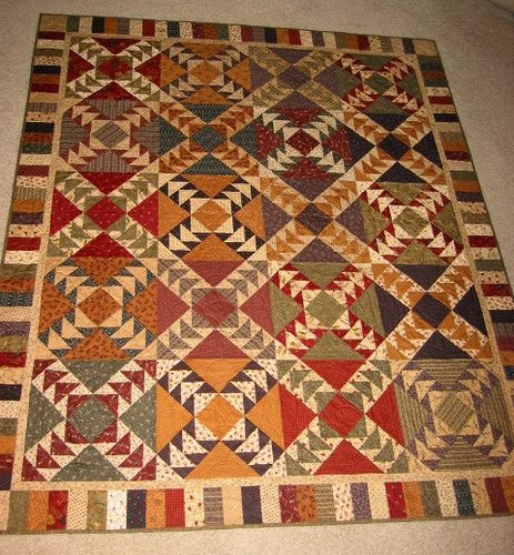 Beautiful wild goose chase quilt fall quilts traditional quilts Elegant Wild Goose Chase Quilt Pattern Inspirations