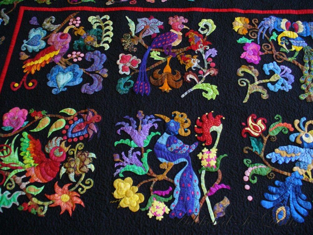 birds of paradise pat campbell pattern applique quilts Stylish Pat Campbell Applique Quilt Pattern