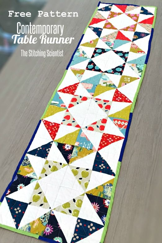 contemporary table runner pattern quilted table runners Interesting Patterns For Quilted Table Runners Inspirations