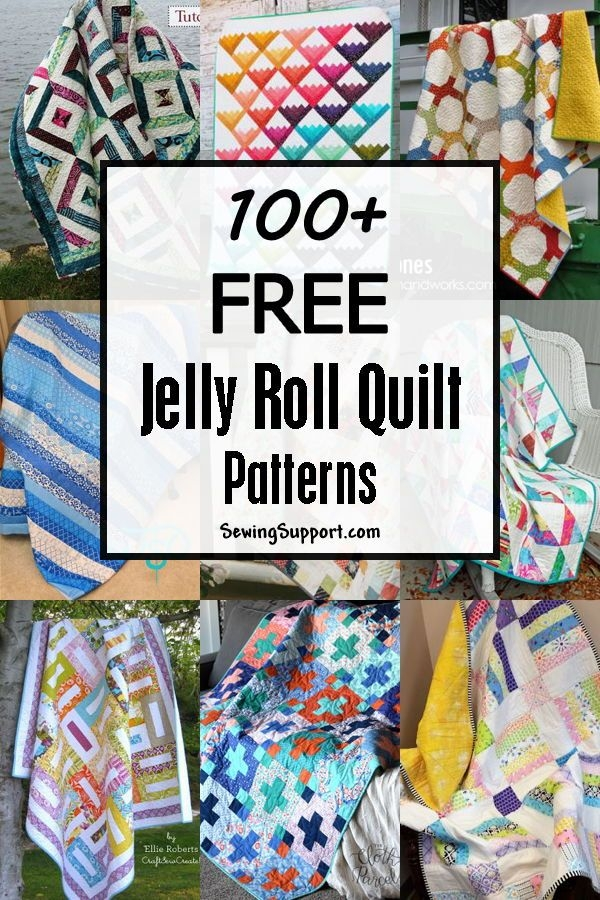 Cool 100 free jelly roll quilt patterns tutorials jelly roll 10 Cool Jelly Roll Strip Quilt Pattern
