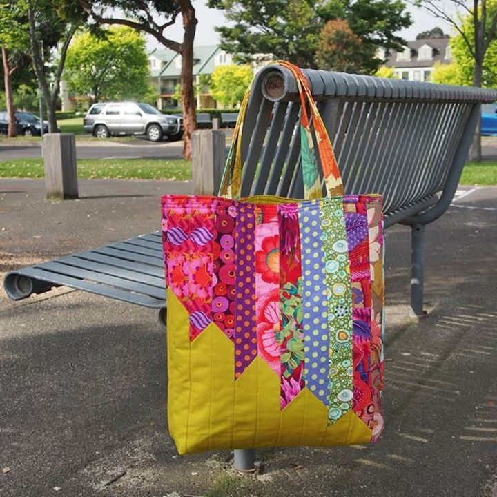 Cool angle tote bag pattern 9 Interesting Quilted Tote Bags Patterns