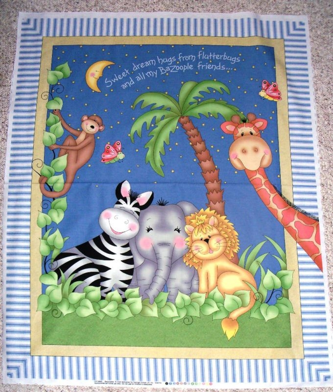 Cool bapanelsforquilting bazooples fabric panel quilt top 9 Cool Baby Quilt Panel Fabric