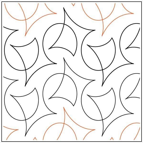 Cool calder quilting pantograph pattern natalie gorman 10 Interesting Pantograph Patterns For Quilting