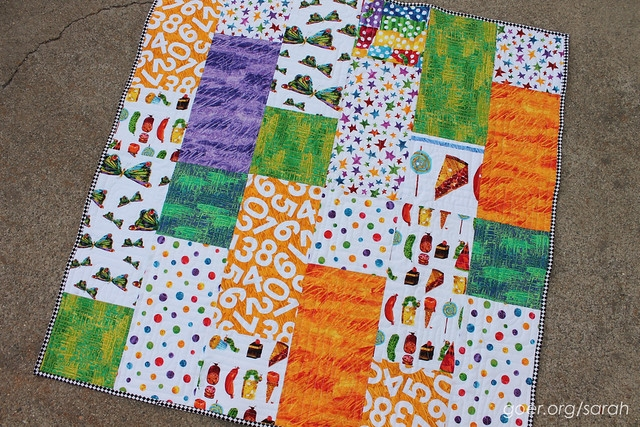 Cool caterpillar fizz finished quilt sarah goer quilts 11 Beautiful Very Hungry Caterpillar Quilt Pattern Gallery