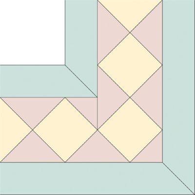 Cool diamond star squares quilt border pattern quilt border 9 Cozy Quilting Borders Patterns
