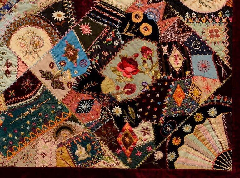 Cool extraordinary victorian crazy quilt crazy quilt stitches 10 New Victorian Crazy Quilt Patterns