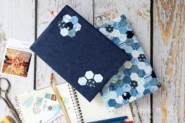 Cool fabric book cover tutorial how to sew craft passion 10 Modern Quilted Book Cover Pattern