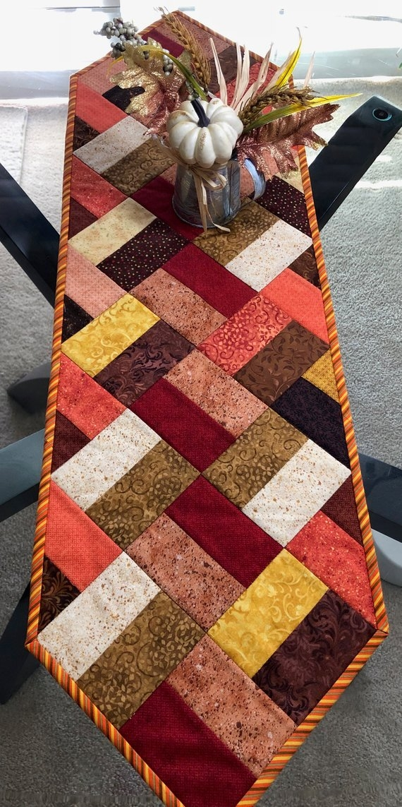 Cool fall table runner quilted table runner narrow table runner 10 Stylish Quilting Patterns For Table Runners