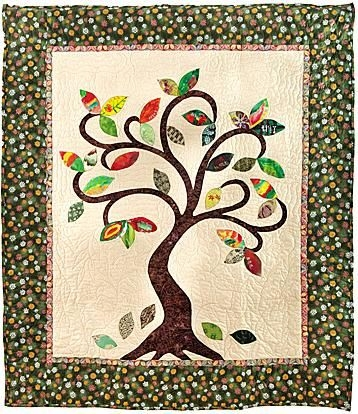 Cool family name quilts images class family tree first 9 Modern Family Tree Quilt Pattern Gallery